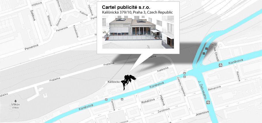 Cartel Publicite office - map